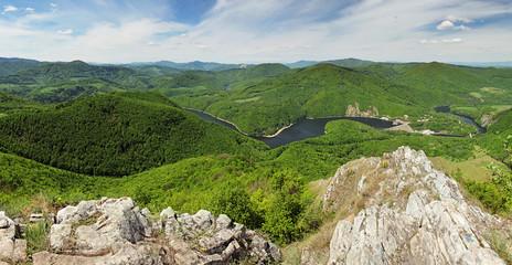 View from peak Sivec, Slovakia near Kosice