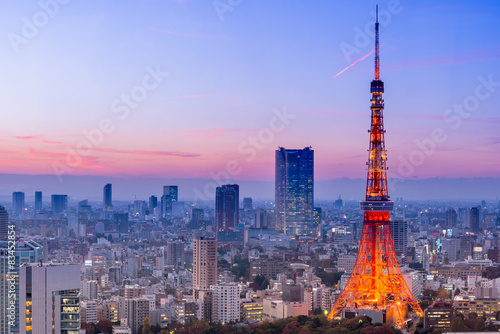 Fotobehang Tokio Tokyo Tower, Tokyo, Japan