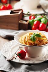 Traditional sicilian red pesto with tomato