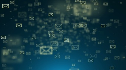 Background of the envelope e-mail. Many e-mai