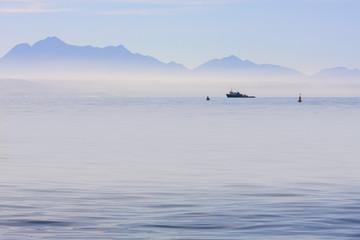 working ocean vessel