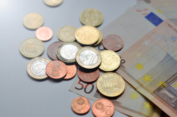 Euro Banknotes (close-up shot)