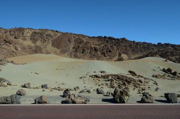 пезаж необычной вулканической породы