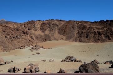 вулканическая порода на острове тенерифе