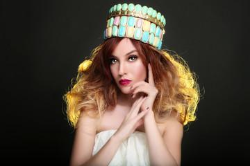 Fashionable Woman Wearing High End Head Piece