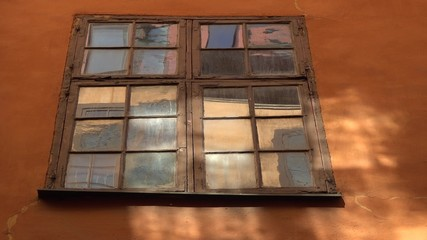 old windows from old town in Stockholm sweden