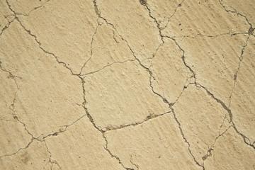 Cracks on the sand. Natural background
