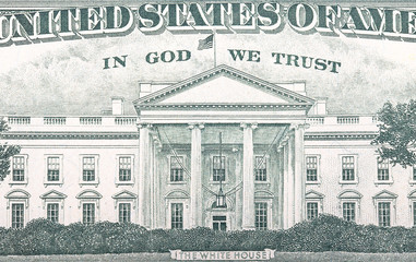 The White House on a dollar bill