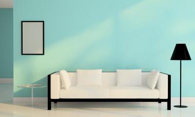 white sofa chair decoration in living room modern design