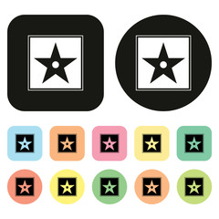 Cinema icon, Star icon