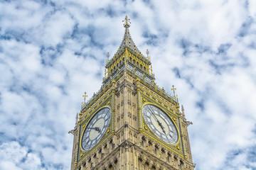 Details of Big Ben clock.