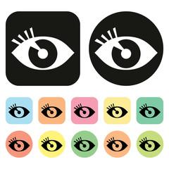 Visual icon. Eye icon