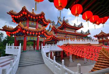 Lanterns decoration at Thean Hou Temple, Kuala Lumpur, Malaysia