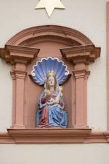 Marienbild mit Jesus und Trauben