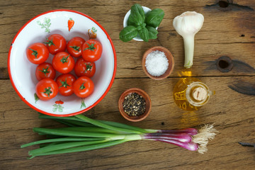 Ingredients for a tomato sauce