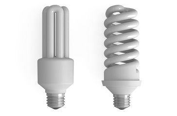 two compact fluorescent lamps