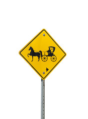 Isolated Horse and Buggy Parking Sign