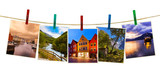 Fototapety Norway travel photography on clothespins