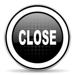 close icon, black chrome button