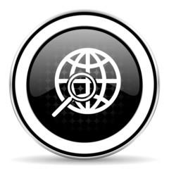 search icon, black chrome button