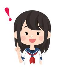 女子・学生〈セーラー服・夏〉15