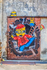 Penang mural with Minions
