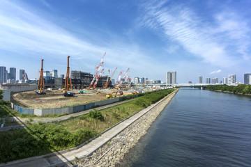 豊洲新市場建設現場