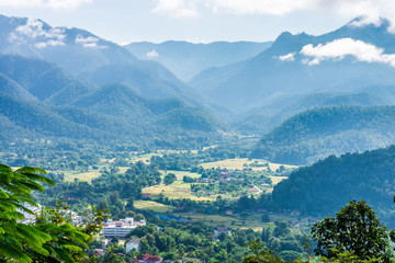 The natural landscape view of Mae Hong Son Province