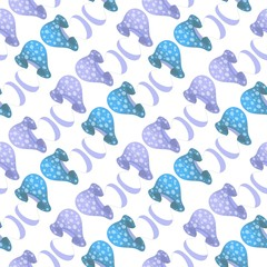 Abstract seamless pattern with mushrooms motif
