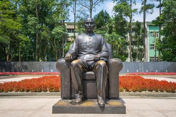 Bronze statue of Sun Yat-Sen emplaced in the Memor.