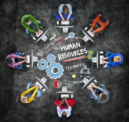 Human Resources Employment Job Teamwork Computer Technology Conc
