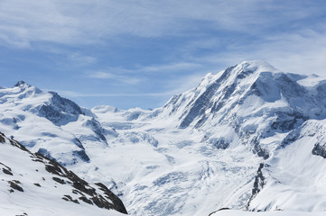 Snow mountain in Swiss