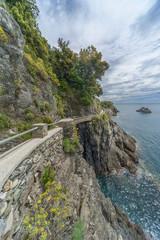 hiking trail in cliff in Resort Village Monterosso al Mare, Cinq