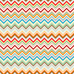 Dots and zig zag lines background