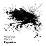 Fototapety Abstract explosion geometric grunge backgroun