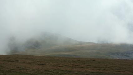 Summer Cloudy Mountain View (Southern Carpathians,  Romania).