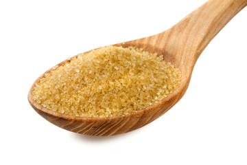 brown sugar in a wooden bowl