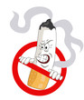 Постер, плакат: Cartoons No Smoking Sign