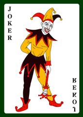 Joker in colorful costume