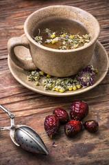 healing with chamomile broth