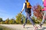 Workout beim Nordic Walking