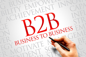B2B (Business to Business) word cloud, business concept