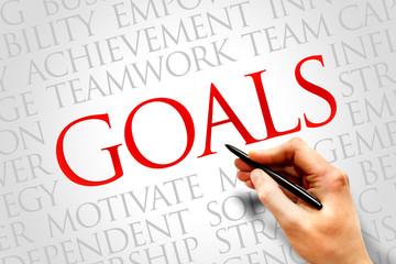 Goals word cloud, business concept