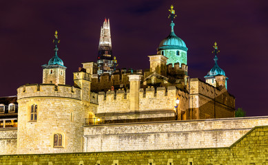 View of the Shard and the Tower of London