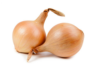Beautiful onion isolated on white background