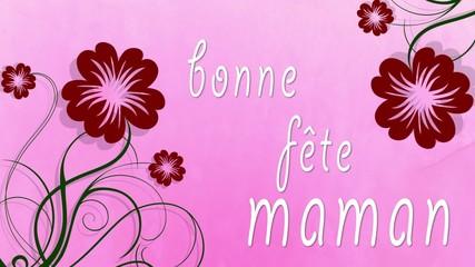 bonne fête maman vidéo fond rose