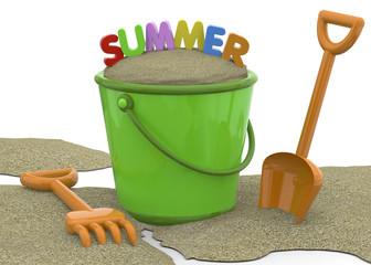 Summer on the Beach - 3D