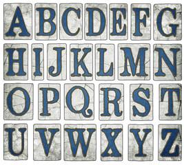 Vintage New Orleans Street Tiles Alphabet Collection