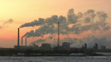 The smoking pipes of chemical plant