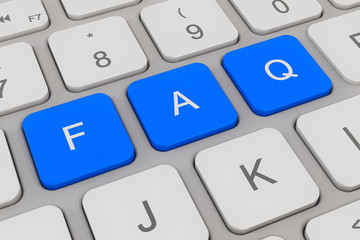 Tastatur - häufig gestellte Fragen - blau